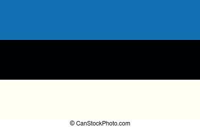 National Flag Estonia - Detailed Illustration National Flag...