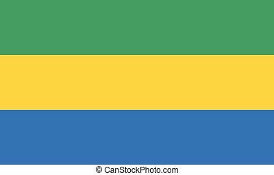 National Flag Gabon - Detailed Illustration National Flag...