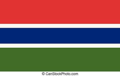 National Flag Gambia - Detailed Illustration National Flag...