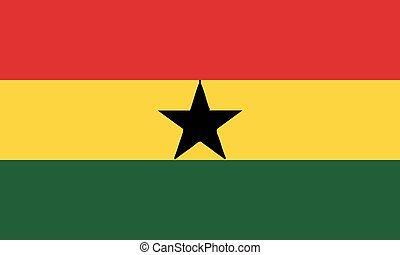 National Flag Ghana - Detailed Illustration National Flag...