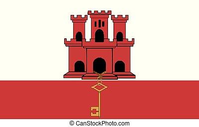 National Flag Gibraltar - Detailed Illustration National...