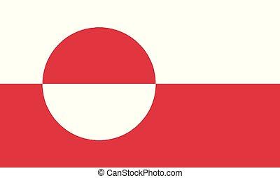 National Flag Greenland - Detailed Illustration National...