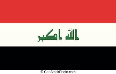 National Flag Iraq - Detailed Illustration National Flag...