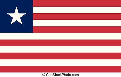 National Flag Liberia - Detailed Illustration National Flag...