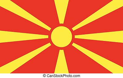 National Flag Macedonia - Detailed Illustration National...