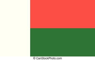 National Flag Madagascar - Detailed Illustration National...