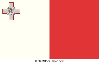 National Flag Malta - Detailed Illustration National Flag...