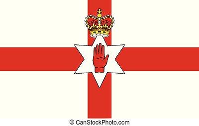 Detailed Illustration National Flag Northern Ireland