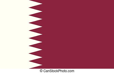 National Flag Qatar - Detailed Illustration National Flag...