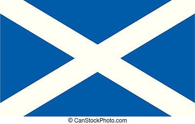 National Flag Scotland - Detailed Illustration National Flag...