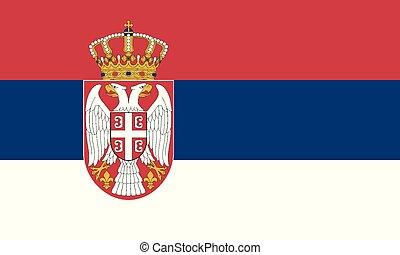 National Flag Serbia - Detailed Illustration National Flag...