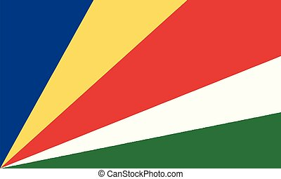 National Flag Seychelles - Detailed Illustration National...