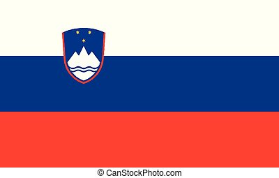 National Flag Slovenia - Detailed Illustration National Flag...