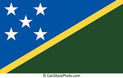 National Flag Solomon Islands - Detailed Illustration...