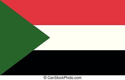 National Flag Sudan - Detailed Illustration National Flag...
