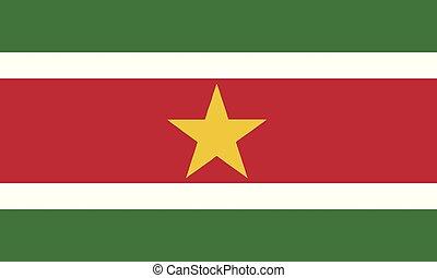 National Flag Suriname - Detailed Illustration National Flag...