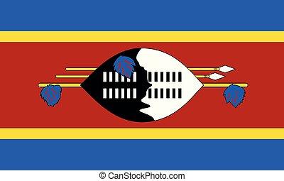 National Flag Swaziland - Detailed Illustration National...