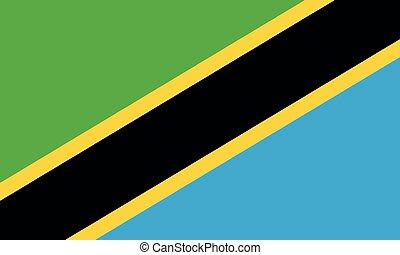 National Flag Tanzania - Detailed Illustration National Flag...