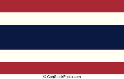 National Flag Thailand - Detailed Illustration National Flag...