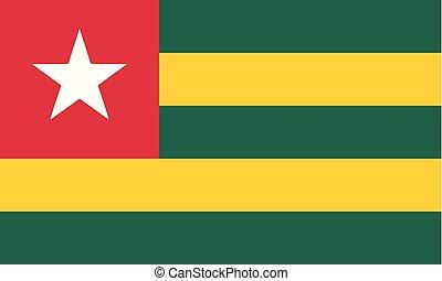 National Flag Togo - Detailed Illustration National Flag...