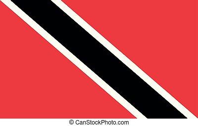 National Flag Trinidad and Tobago - Detailed Illustration...