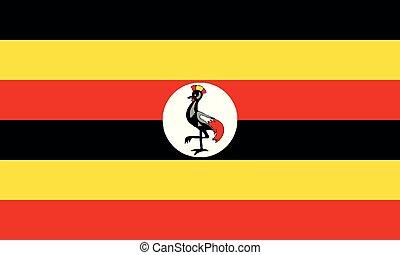National Flag Uganda - Detailed Illustration National Flag...