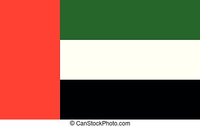 National Flag United Arab Emirates - Detailed Illustration...