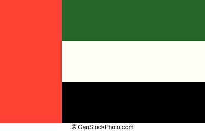 National Flag United Arab Emirates - Detailed Illustration...