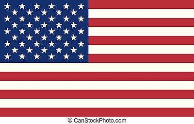 Detailed Illustration National Flag United States
