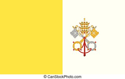 National Flag Vatican city - Detailed Illustration National...