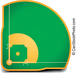 detailed illustration of a baseball field eps10 vector