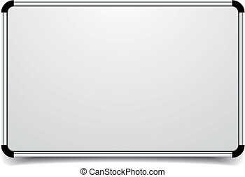 whiteboard - detailed illustration of a blank whiteboard, ...