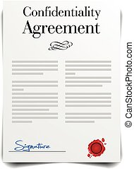 Confidentiality Agreement - detailed illustration of a...