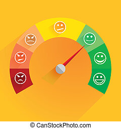 satisfaction meter - detailed illustration of a customer ...
