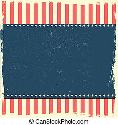grungy patriotic background - detailed illustration of a ...