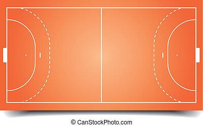 handball field - detailed illustration of a handball field,...