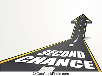 Second Chance - detailed illustration of a highway road...
