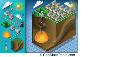 Isometric Geothermal Heat Pump Diagram - detailed...