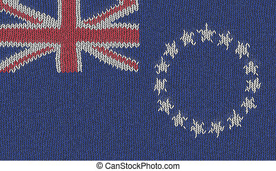 Illustration of a Knitted Flag of Cook Islands