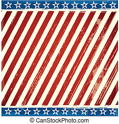 patriotic stars and stripes background with grunge elements...