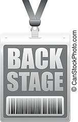 backstage badge - detailed illustration of a plastic...