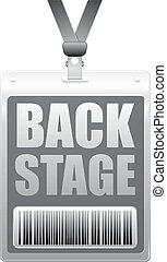 backstage badge - detailed illustration of a plastic ...