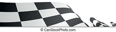 detailed illustration of a racing flag on a white background
