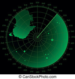 radar screen with targets