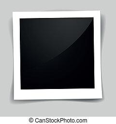 retro photo frame - detailed illustration of a retro photo...