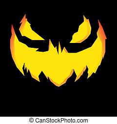 Jack-o-Lantern - detailed illustration of a scary Jack-o-...
