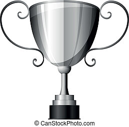 silver trophy - detailed illustration of a silver trophy