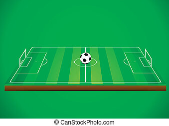 soccer field with ball