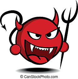 devil - detailed illustration of a stylized red devil with...