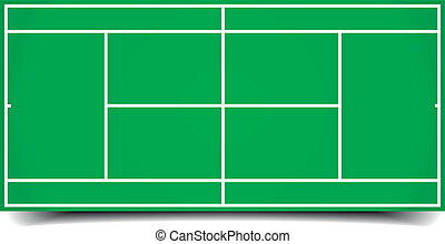 tennis court - detailed illustration of a tennis court, ...